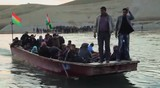 Iraq: Syrian Refugees Cross The Border By Barge